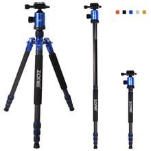 Zomei Z818C Carbon fiber color Portable 15KG bear slr video tripodes digital camera tripod professional para reflex dslr tripod