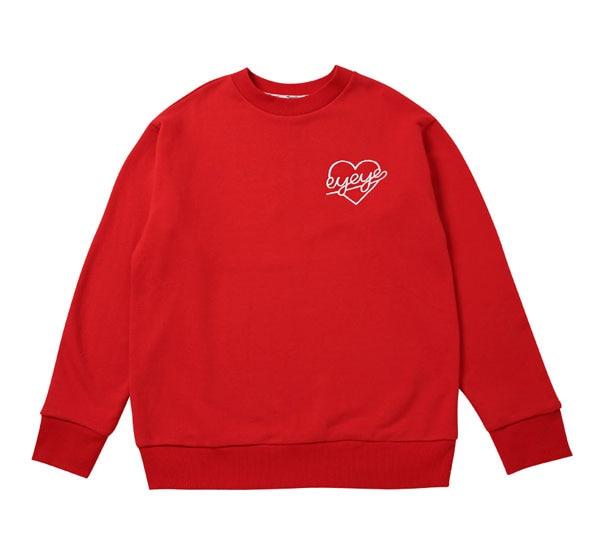 Hoodies Men Wanna One Kpop Star Same Style Sweatshirt Heart Printed moleton masculino Supreme O neck Autumn Winter Hoodie