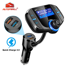 BT70 FM Transmitter Car Radio Bluetooth Kit Dual USB QC3.0 Wireless MP3 Player Charger Adapter Hands-free BT Tuner FM Modulator car fm transmitter kit bluetooth hands free radio adapter mp3 player lcd charger 220130