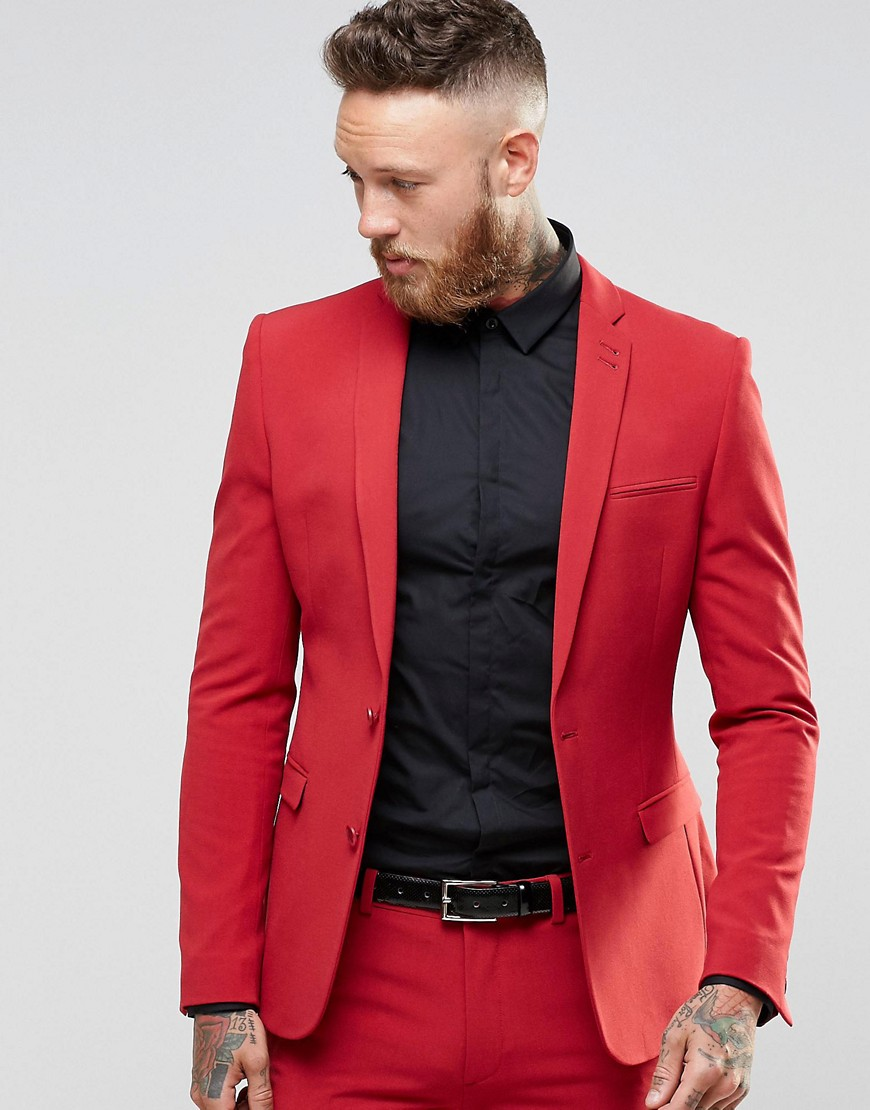 Tailor Made 2016 Newest Red Men\'s Wedding Prom Tuxedos 2 Pieces ...