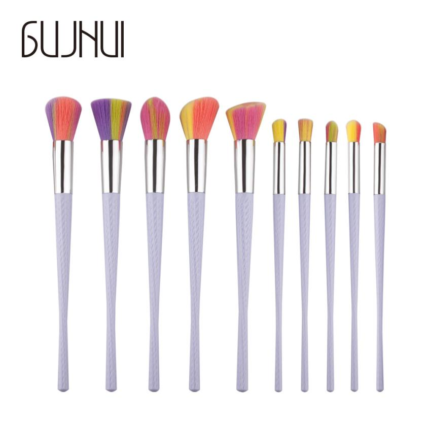 2017 New  10PCS  Make Up Foundation Eyebrow Eyeliner Blush Cosmetic Concealer Brushes  fashion drop shipping sep25 2017 new 24pcs mini make up foundation eyebrow eyeliner blush cosmetic concealer brushes beauty drop shipping sep25