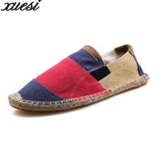 Для мужчин S эспадрильи Для мужчин желтый лоскутное Слипоны  Летняя обувь  мужские лоферы 2018 дышащий холст Мужская обувь мода д. 419f135fd34