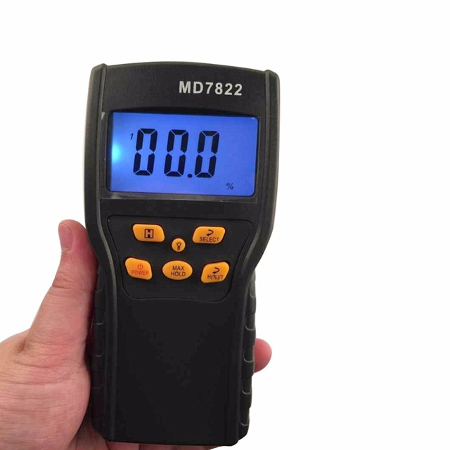 MD7822 Digital Grain Moisture Meter Food Thermometer Humidity Hygrometer Analyzer water Damp Detector Tester
