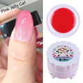 1 Box Pink Opal Jelly Gel 5G Semi-transparent Soak Off UV Gel Manicure Nail Art Gel Polish
