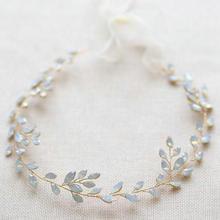 hot deal buy wedding headband for brides handmade opal crystal vines bridal wedding hair jewelry