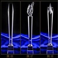 Customized 25cm K9 Crystal trophy cup Prize Trophies Encourage Souvenirs