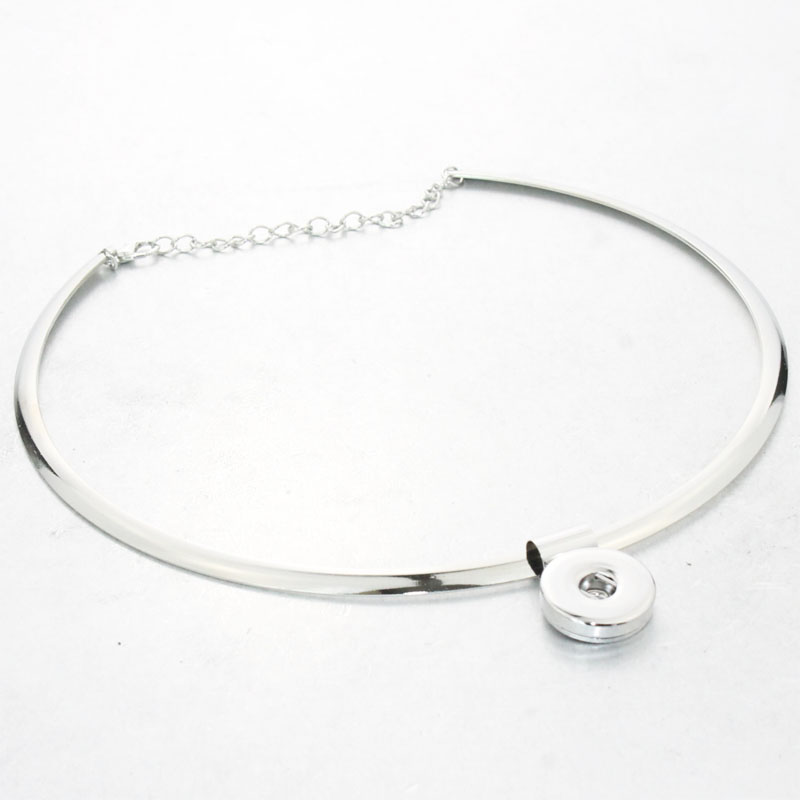 Snap perhiasan, Torsi klasik wanita 18 mm tombol snap kalung, Bohemian kalung bohemian, & Liontin, Unisex perhiasan DIY