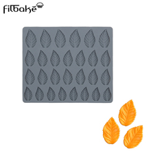 FILBAKE Silicone Fondant Mold Leaves Shape Chocolate Mould For Baking Mousse Pudding Pastry Decorating Tools