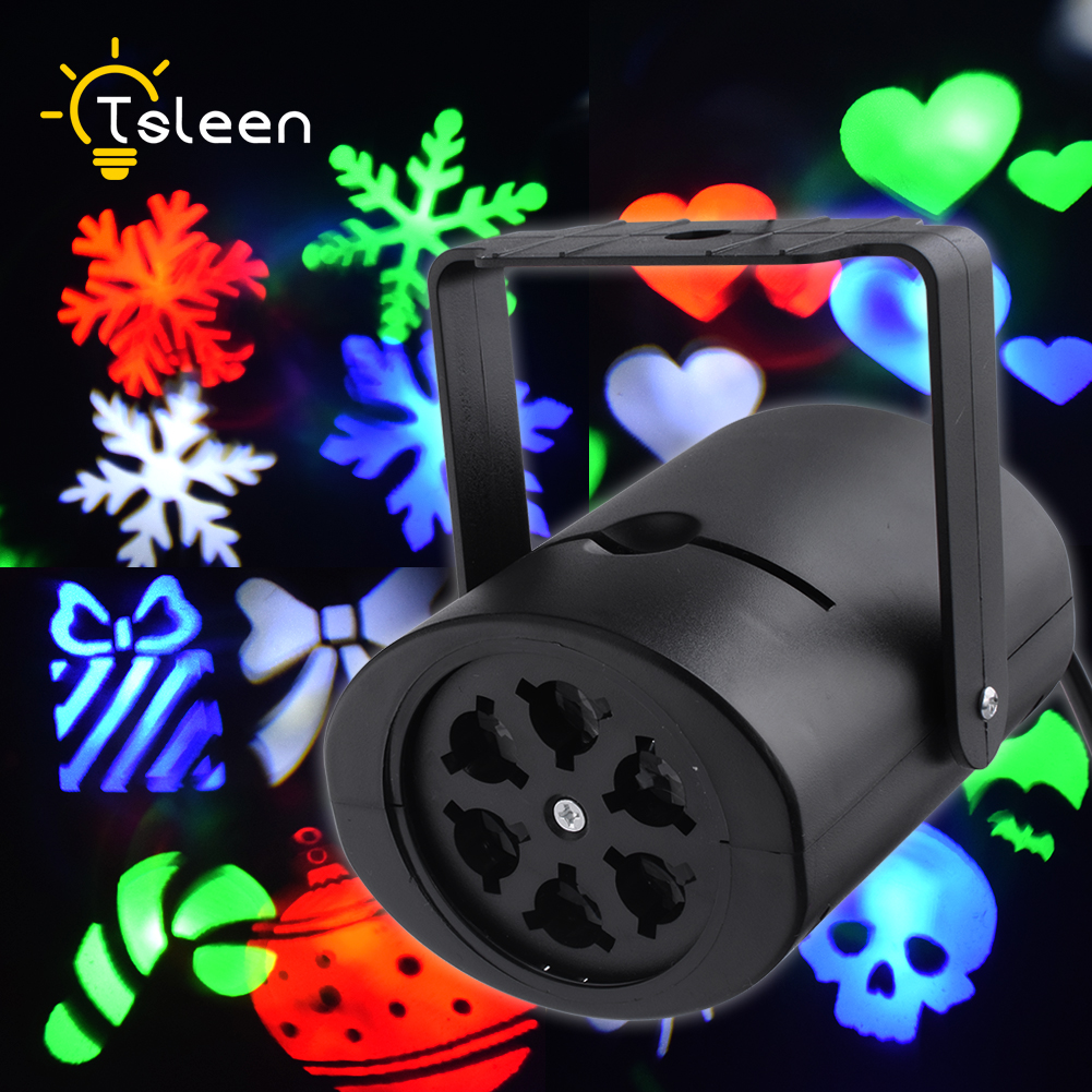 Led Home Stage Lighting Effect RGBW Laser Projector Christmas Stage Light Hearts Snow Spider Disco Lights Dj Party Stage Light