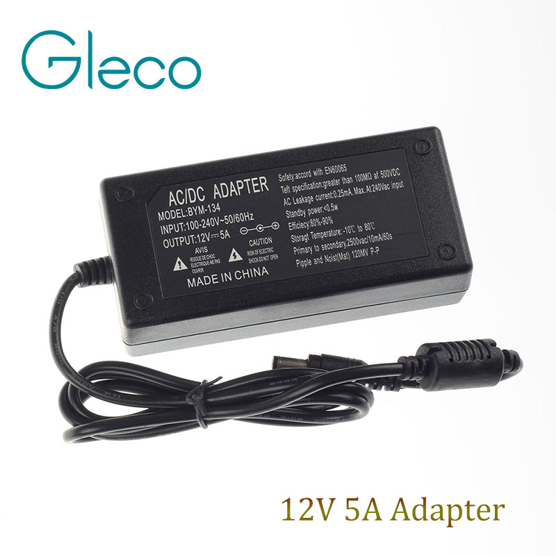 Hot Sale Led Power Supply 12V 5A 60W Power Adaptor for Led Strip 3528 5050 Supply