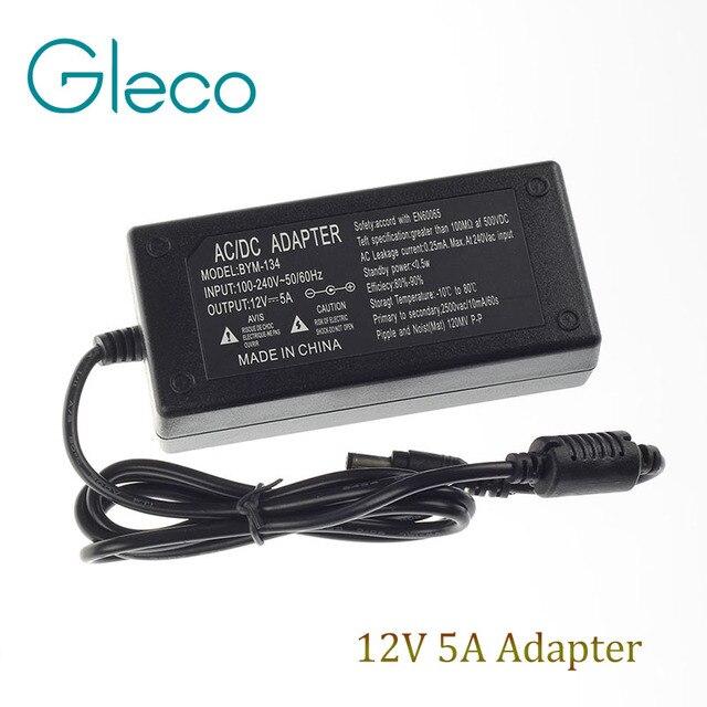 Hot Sale Led Power Supply 12V 5A 60W Power Adaptor, for Led Strip Light 3528,5050 5630 5730 LED Driver us/eu/au/uk for Choice