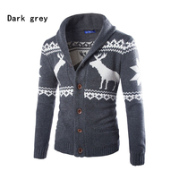 2018 Autumn And Winter New Men Cardigan Sweater Deer Christmas Lapel Single Breasted Fit Sweater Jacket High Quality 4 Colors