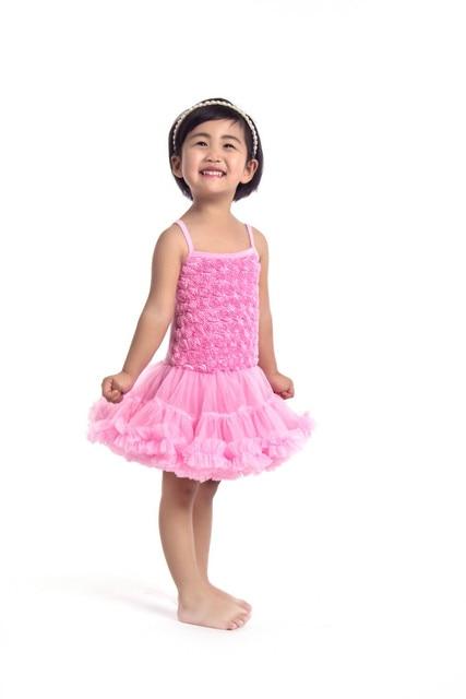 Детские Девушки Бальное платье Платье Детские Летние Розетка PettiDress Для Birthday Party Рукавов Платье Принцессы Цветочный Vestido Infantil