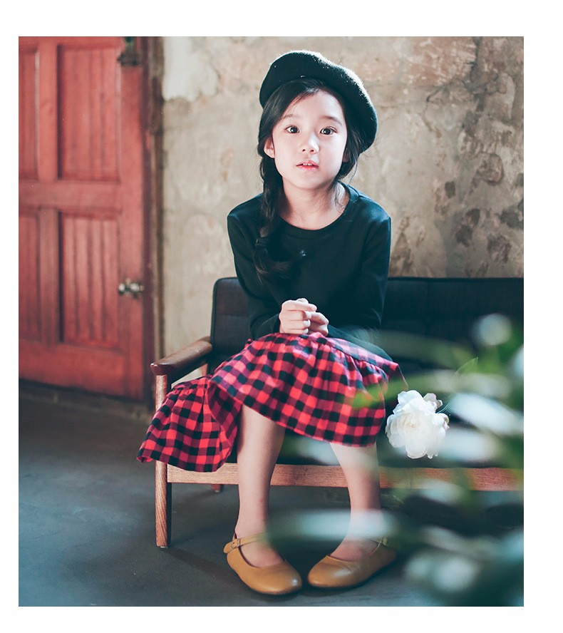 England style long skirts for baby teenage girls red plaid pleated skirt girl 2017 new spring autumn winter children clothing 5 6 7 8 9 10 11 12 13 14 15 16 years old little big teenage girls pleated skirts for kids (19)