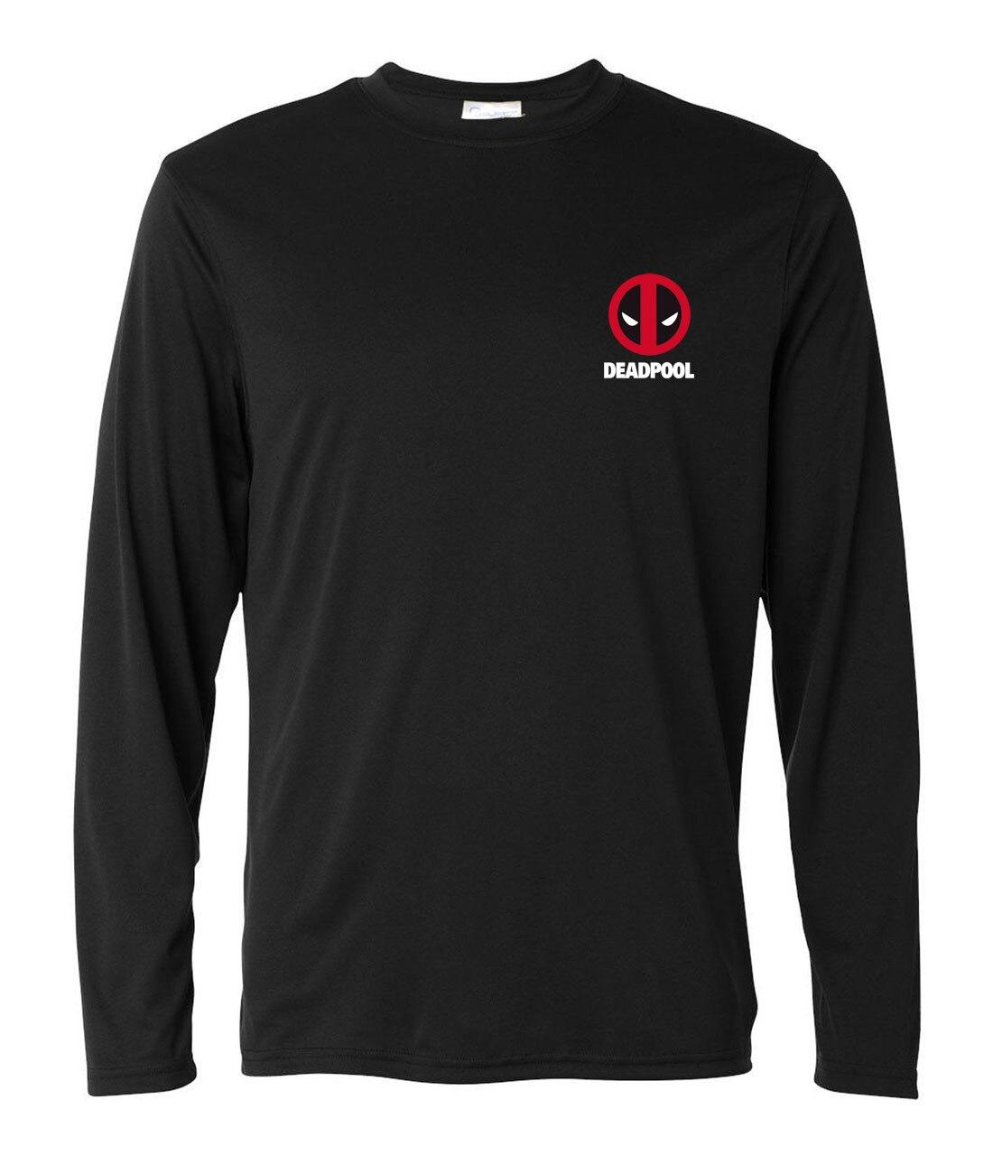 2019  long sleeve t shirts men spring summer cotton o-neck camisetas homme marvel deadpool printed fashion brand clothing