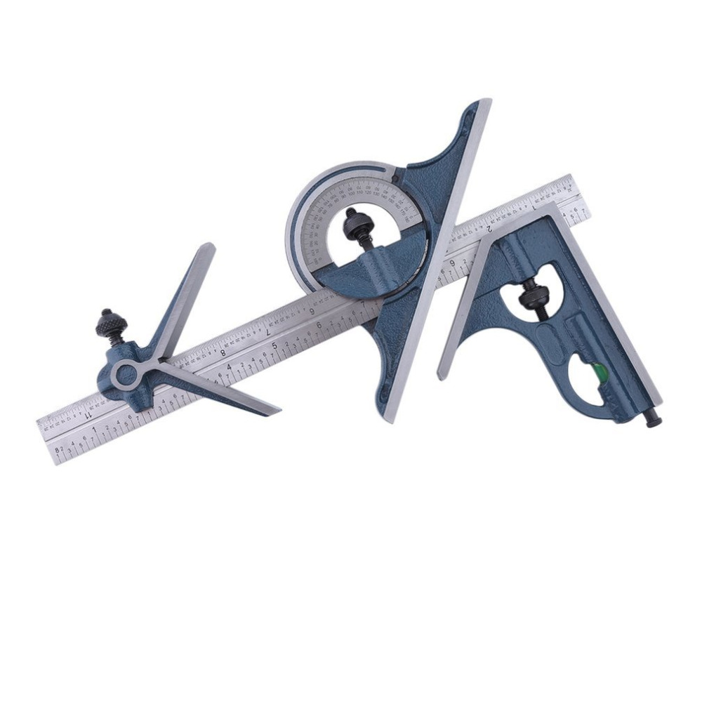 4R 4 PCS Machinist Square Combination Reversing Protractor Angle Square Set MY