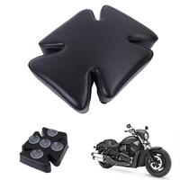 Motorcycle Rear Passenger Cushion Seat 5 Suction Cup Pillion Back Seat For Harley Dyna Street Bob Softail Sportster 883 1200 48