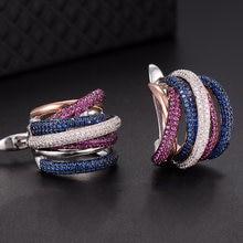 Роскошные плетеные Разноцветные серьги godki 25 мм с полным