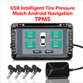 USB TPMS система контроля давления в шинах Android монитор давления в шинах Беспроводная передача 4 внутренний для большинства транспортных средс...
