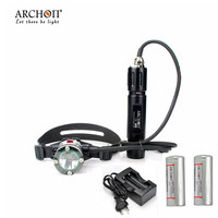 Diving Headlamp Archon DH25 WH31 1000 lumens Cree XM L U2 Canister Snorkeling Scuba Diving Headlight With Batteries + Charger