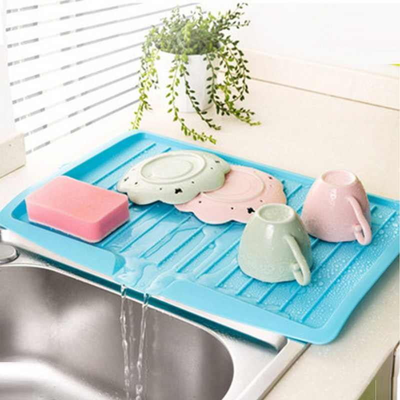 New Bowl cup drainer Dishes Sink Drain Plastic tray Cutlery Filter Plate Storage Shelving Rack Drain Board Kitchen Tools sink