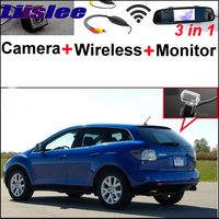 3 In1 Special Rear View Camera Wireless Receiver Mirror Monitor Parking System For Mazda CX 7