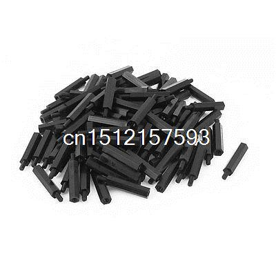 M3 25+6mm Male Female Thread Nylon Hex Standoff Spacer Screws PCB Pillar 100pcs 100pcs m3 nylon black standoff m3 5 6 8 10 12 15 18 20 25 30 35 40 6 male to female nylon spacer spacing screws