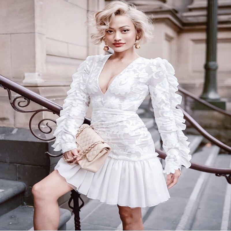 ea44771d786 De Gros L épaule Nu Robe Sans En Robes D automne Spéciale Dos Supérieure  Club Moulante Manches Offre Femmes 2019 Sexy ...