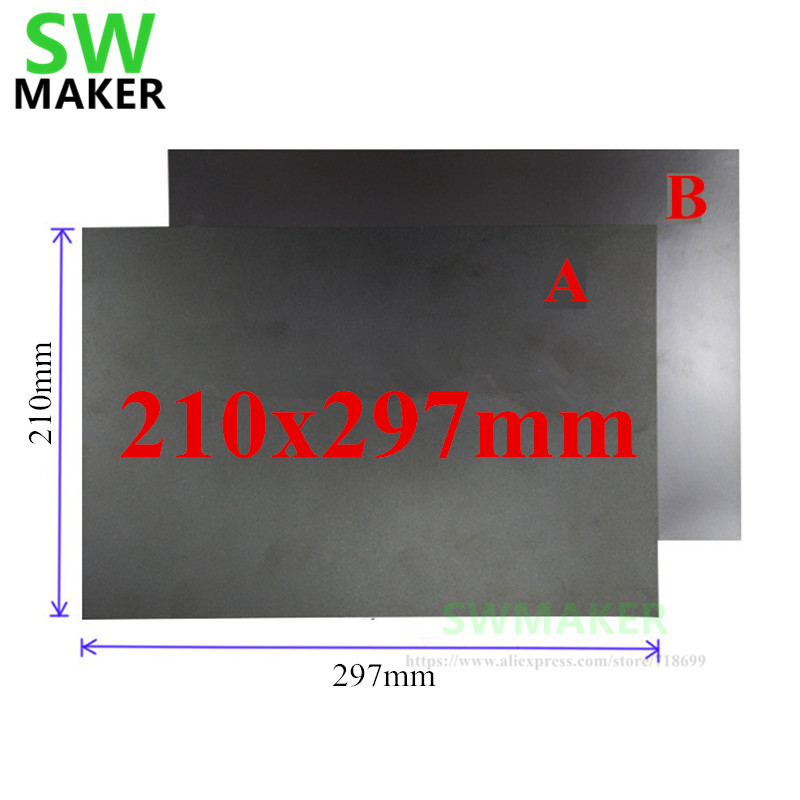 210x297mm A+B Magnetic Adhesive Print Bed Tape Print Sticker Surface Flex Plate DIY 3D Printer Parts