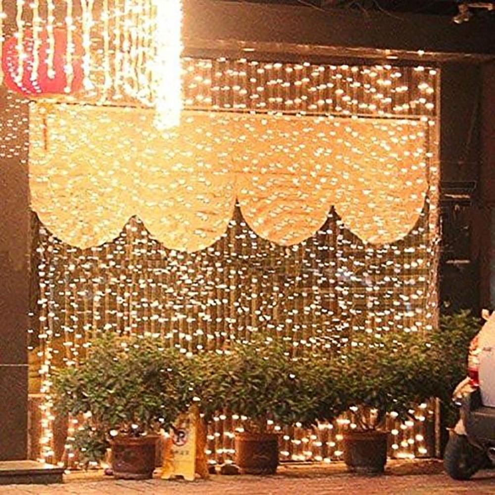 Светодиодный Шторы свет шнура 3x3 м 300 светодиодный s дистанционного Управление Крытый падение светодиодный свет для свадьбы дома сад вечерн...