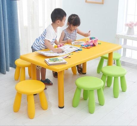 Children Furniture Sets 1 desk+4 stools sets plastic kids Furniture sets kids stools and study table sets minimalist 120*60*50cm