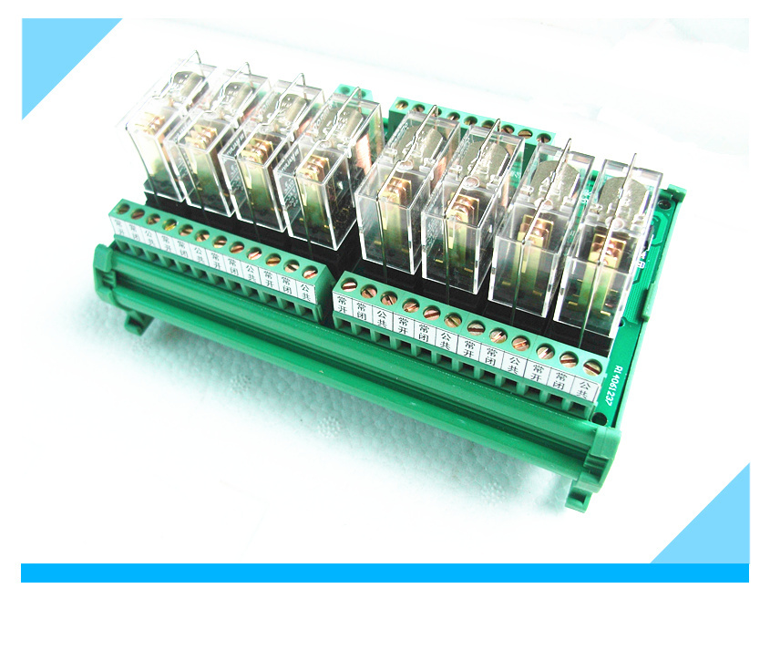 Coil voltage 12V or 24V 8-channel relay driver board module module Omron PLC board MCU isolation amplifier board 8 omron relay module driver board microcontroller module eight plc enlarged board