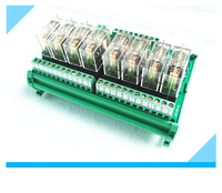 Coil voltage 12V or 24V 8 channel relay driver board module module Omron PLC board MCU isolation amplifier board