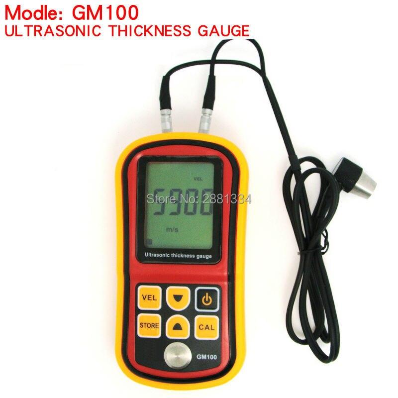 GM100 Ultrasonic Thickness Gauge Tester Metal Width Measuring Instrument 1.2~220mm Sound Meter Diagnostic-tool цена