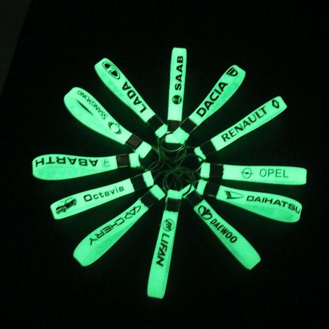 Luminosa etiqueta engomada del coche de anillo para VW golf LADA Renault opel KIA RIO Ford chevrolet Toyota Hyundai Mazda bmw audi