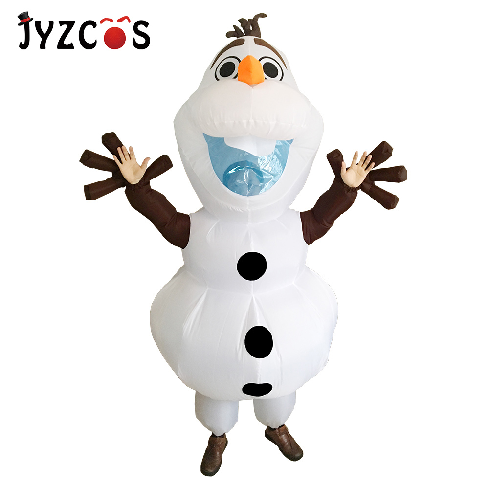 JYZCOS Olaf Snowman Costumes for Women Men Adult Purim Halloween ...