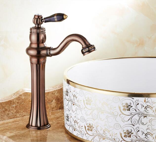 new arrival ORB finish brass material bathroom hot and cold Tap Sink Faucet Tap Water Mixer Deck Mount Bathroom Faucet new arrival tall bathroom sink faucet mixer cold and hot kitchen tap single hole water tap kitchen faucet torneira cozinha