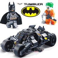 Decool BATMAN Joker Movie Ciemna Noc Bat Mobile Suszarka Montaż Building Blocks Super Heroes figurki Zabawki Dla Dzieci Prezent