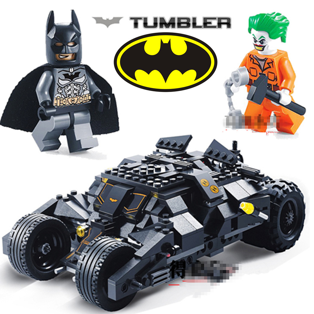 Decool BATMAN Movie Joker Dark Night Bat Mobile Tumbler Super Heroes Assemble Building Blocks Action figures Kids Toys Gift