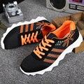 Mejor calidad del hombre ocasional antideslizante zapatillas hombre encaje de malla transpirable zapatos ligeros zapatos de gran tamaño libre gratis