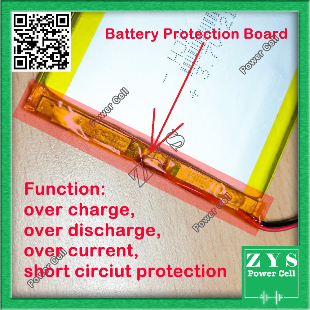 Safety Packing (Level 4) 1 pcs. 503035 3.7V 500mah Lithium polymer Battery with Protection Board For PDA Tablet PCs <font><b>053035</b></font> image