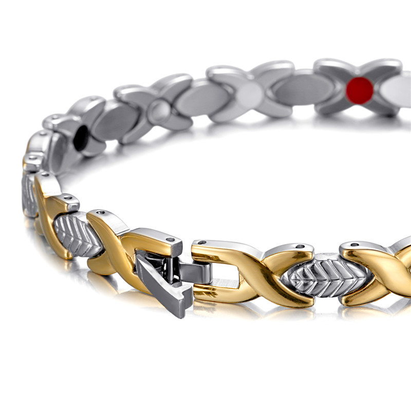 Women 39 s Lovely Magnetic Bracelets 3 Color Bio Charm New Jewelry Bangle Stainless Steel Valentine 39 s Day Fashion Creative Bracelet in Chain amp Link Bracelets from Jewelry amp Accessories