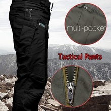2019 Mens Military Tactical Pants SWAT Trousers Multi-pockets Cargo Pants Training Men Combat Army Pants Work Safety Uniforms mens multi pockets thick polar fleece drawstring cargo pants