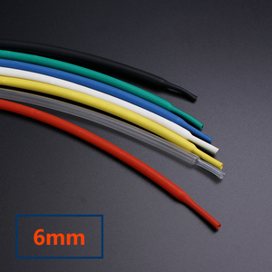 1m/pcs heat shrink tubing tube assortment 6mm cable sleeve wape wire ration 2:1 Electrical Connection Sleeving(China)