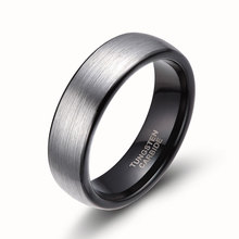 8mm Silver Dome Brush 100% Tungsten Carbide Ring Men Women Wedding Band Simple Hot Male Rings Bagues Homme anillo Promotion