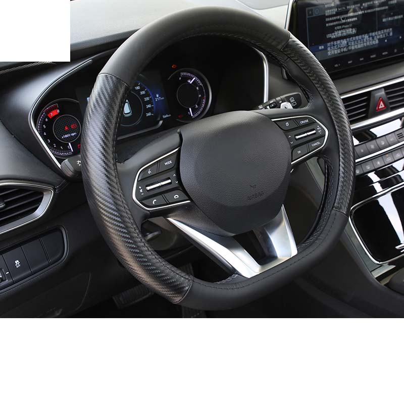 Lsrtw2017 Cow Leather Car Steering Wheel Cover Trims for Hyundai Santa Fe 4th Generation 2019 2020 in Interior Mouldings from Automobiles Motorcycles