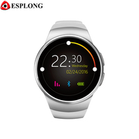Heart rate monitor Bluetooth smart watch KW18 clock smart watch support Android TF card SIM TF card smart watch men