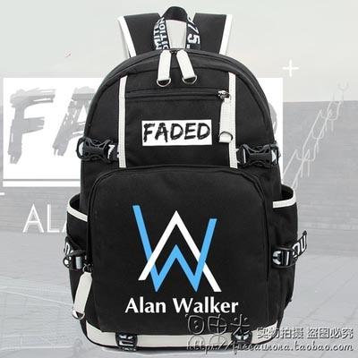 Hot Faded Alan Walker Backpack Cosplay Fashion Luminous Canvas Bag Schoolbag Travel Bags все цены