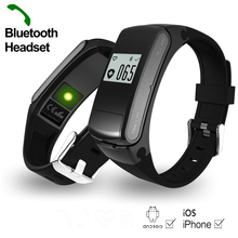 Heart Rate Monitor Smartband Bluetooth Headset Smart Fitness Tracker Wristwatch for IOS Android font b Smartwatch