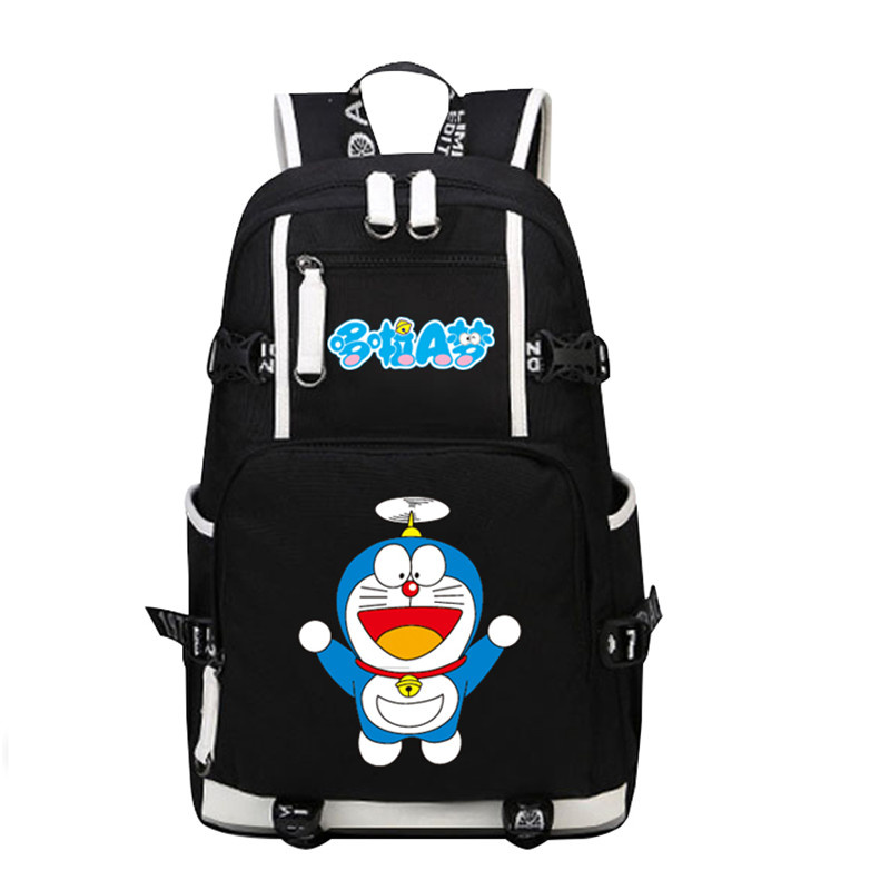 High Quality Large Capacity Bamboo Dragonfly Doraemon Printing Backpack Kawaii School Bags Laptop Backpack Mochila Feminina